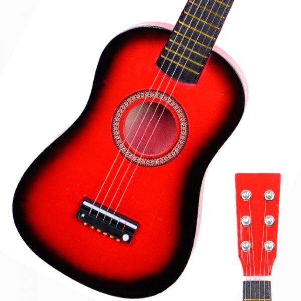 "23"" Acoustic Guitar+Pick+Strings Red"
