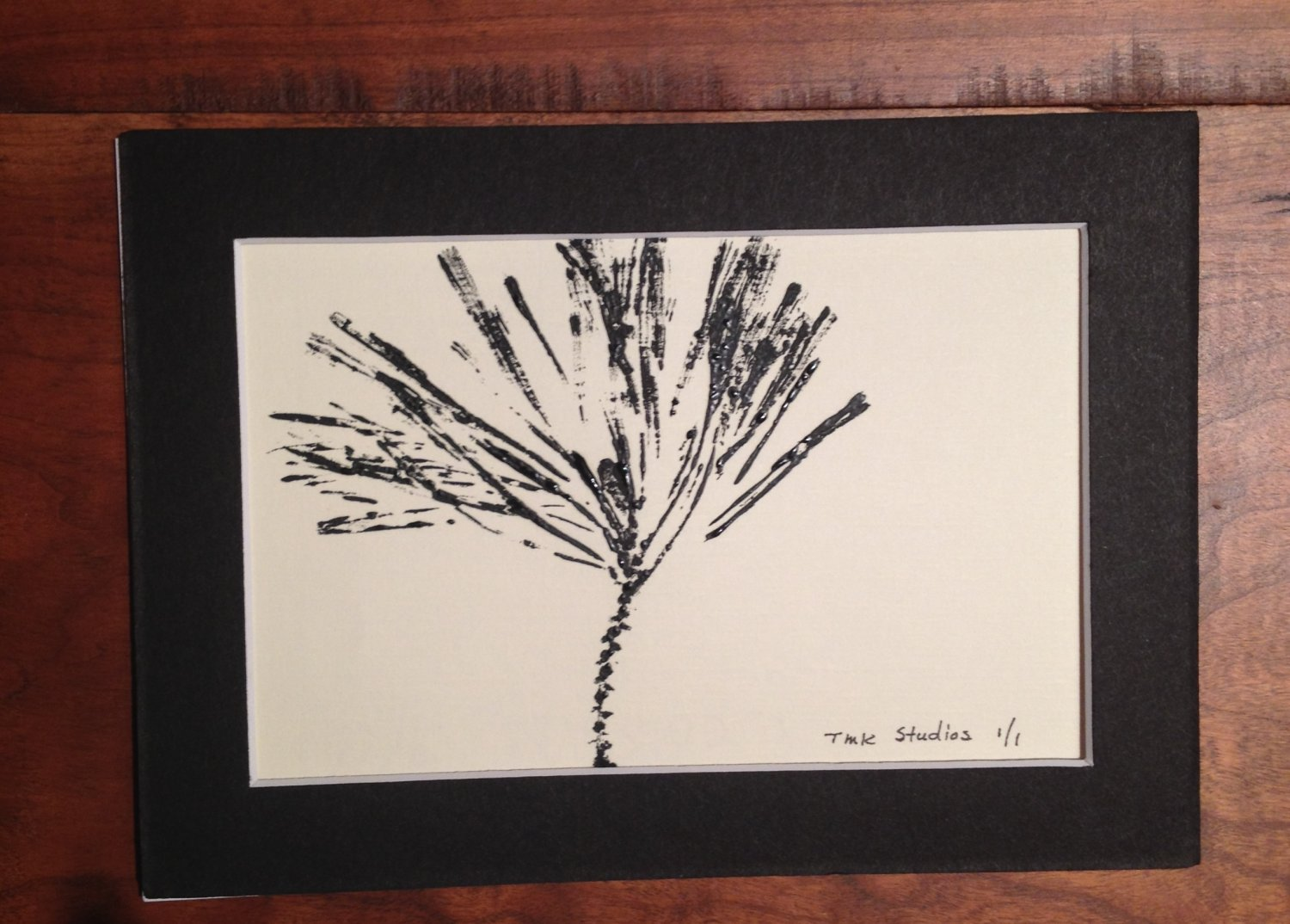 Sale - Pine Needles Matted Print