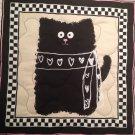 Glam Cat Table Runner Handmade