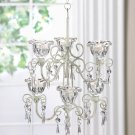Crystal Blooms Double Tiered Chandlier / Candelier