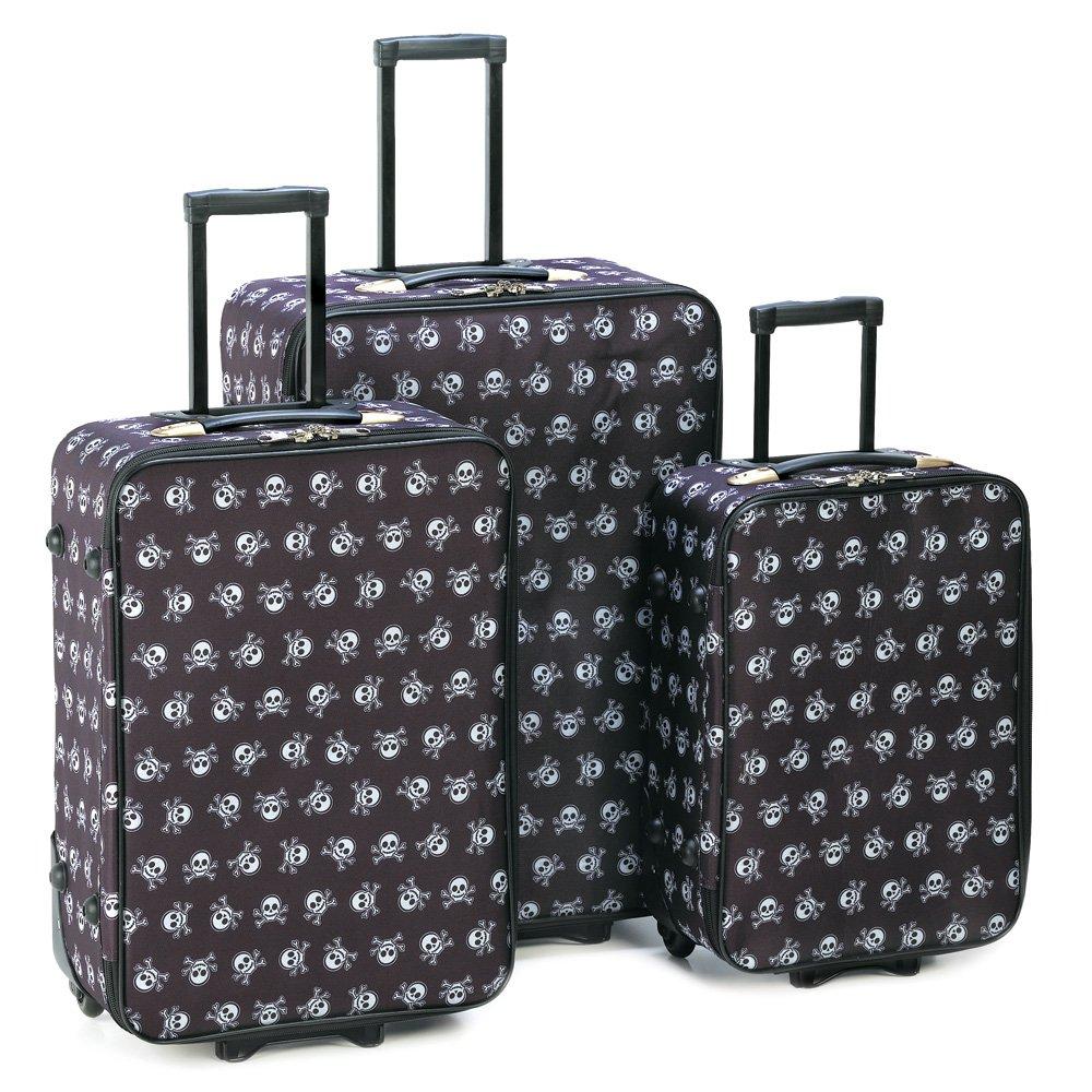 Skull n Crossbones Luggage - 3pc Set