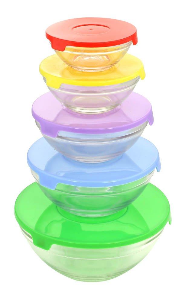 Glass Bowl Set - 10pcs(bowls and lids)