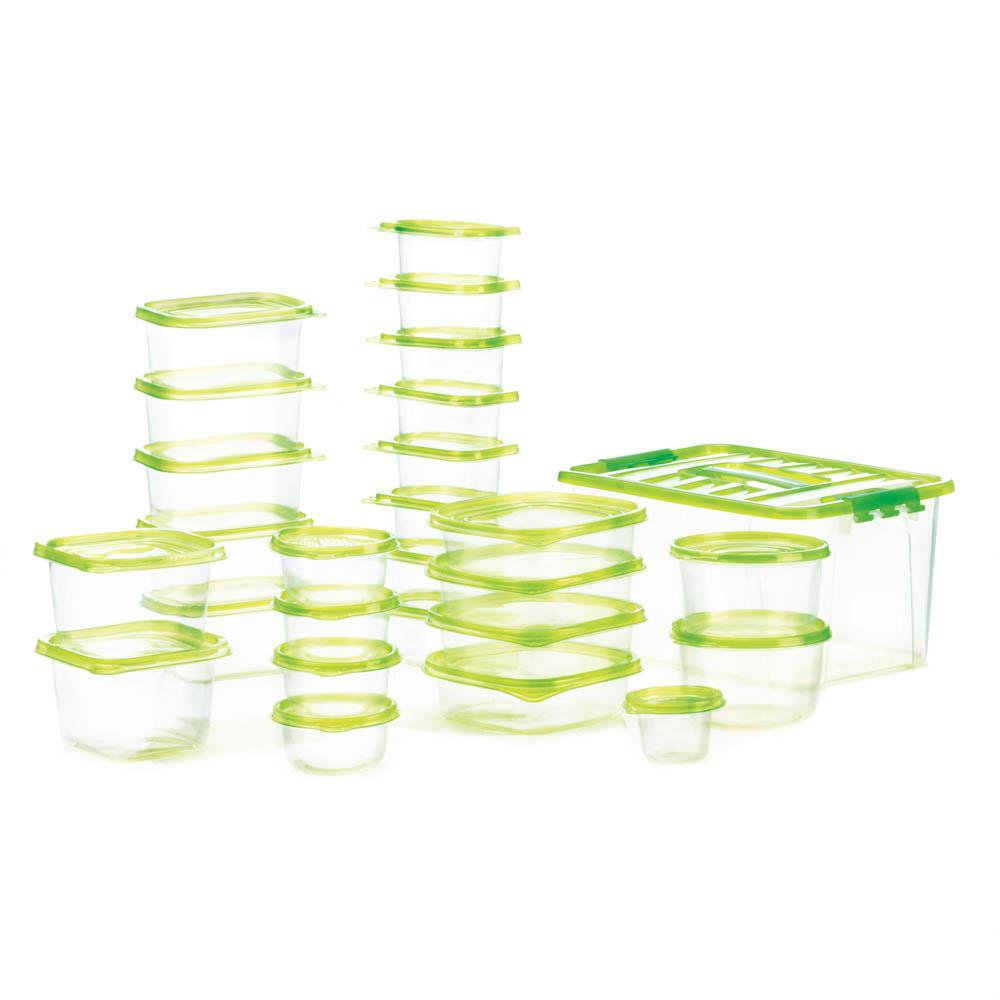 54pc Plastic Food Storage Container Set