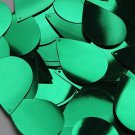 "Green Shiny Metallic Sequins Teardrop 1.5"" Large Couture Paillettes"