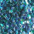 8mm Cup Sequins Aqua Blue Rainbow Iris Shiny Metallic. Made in USA