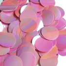 30mm Sequins Orchid Pink Rainbow Iris Shiny Opaque. Made in USA