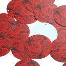 """Round Sequin 1.5"""" Red Roses Bouquet Floral Flower Opaque"""
