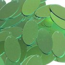 "Oval Sequin 1.5"" Kelly Green Metallic"