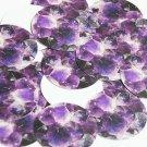 """Round Sequin 1.5"""" Dark Amethyst Quartz Crystal Gems Opaque"""