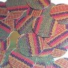 "Round Sequin 1.5"" Ethnic Woven Fabric Weave Multicolor Metallic"