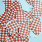 "Navette Leaf Sequin 1.5"" Red White Gingham Plaid Checker Pattern Opaque"