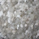 4mm Flat SEQUIN PAILLETTES ~ OYSTER WHITE ~ Made in USA.