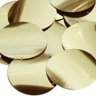 Gold Metallic 2 hole Sequin Round 60mm Couture Paillettes