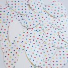 """Oval Sequin 1.5"""" Multicolor Polka Dot on White Opaque"""