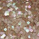 5mm Flat SEQUIN PAILLETTES ~ Beige Opaque RAINBOW IRIS IRIDESCENT ~ USA