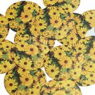 """Round Sequin 1.5"""" Yellow Daisy Floral Flower Opaque"""