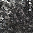 6mm Sequins Black Textured Opaque. Made in USA