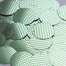 Round Sequin 30mm Green Silver Chevron Zig Zag Pattern Metallic