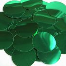 """Green Shiny Metallic Sequins Round 1.5"""" Large Couture Paillettes"""