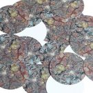 """Round Sequin 1.5"""" Petrifed Wood Pink Red Gold Gray Opaque"""