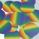 """Round Sequin 1.5"""" Rainbow Opaque"""