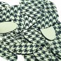 """Oval Sequin 1.5"""" Black Gold Houndstooth Pattern Metallic"""