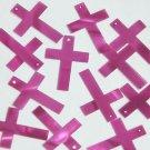 "Simple Cross Sequin 1"" Purple Mirage Illusion"