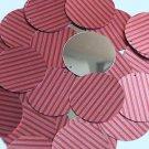 "Round Sequin 1.5"" Red Pink Corrugated Stripe Metallic"