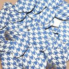 """Oval Sequin 1.5"""" Blue Silver Houndstooth Pattern Metallic"""