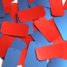 "Rectangle Sequin 1.5"" Red Blue Matte Silk Frost"