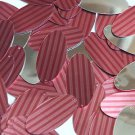 """Oval Sequin 1.5"""" Red Pink Corrugated Stripe Metallic"""