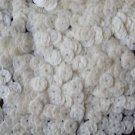 6mm Sequins White Lizard Snakeskin Texture Opaque. Made in USA