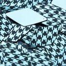 "Long Diamond Sequin 1.75"" Black Silver Houndstooth Pattern Metallic"