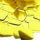 Yellow Metallic Shiny Sequin Square Diamond 1.5 inch Couture Paillettes