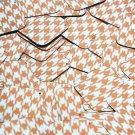 "Square Diamond Sequin 1.5"" Orange Silver Houndstooth Pattern Metallic"