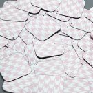 """Square Diamond Sequin 1.5"""" Pink Silver Houndstooth Pattern Metallic"""