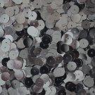Gunmetal SEQUINS 8mm flat PAILLETTES ~ Hematite Gray Metallic ~ Made in USA