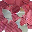 "Teardrop Sequin 1.5"" Red Pink Corrugated Stripe Metallic"