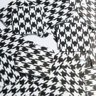 """Square Diamond Sequin 1.5"""" Black White Houndstooth Pattern Opaque"""