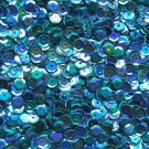 5mm Cup Sequins Aqua Blue Rainbow Iris Shiny Metallic. Made in USA