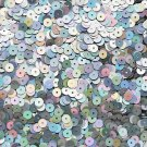 6mm Sequins Ultra Silver Lazersheen. Made in USA