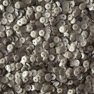 5mm Cup Sequins Silver Matte Silk Frost. Made in USA