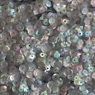 6mm Cup Sequins Smoke Gray Semi Frost Rainbow. Made in USA