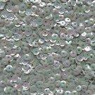 5mm Cup Sequins Aqua Seafoam Rainbow Iris Shiny Opaque. Made in USA