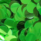 """Sequins Lime Green Metallic 24mm (1"""") Flat Round Top Hole Paillettes"""