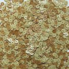 6mm Flat Loose Sequin Paillette Cork Wood Effect Finish Made in USA