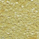 6mm Cup Sequins Yellow Opaque. Made in USA