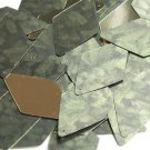 "Long Diamond Sequin 1.75"" Green Pine Leaf Bough Gold Metallic"