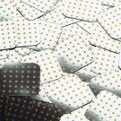"""Square Diamond Sequin 1.5"""" Orange Polka Dot on Silver Metallic"""