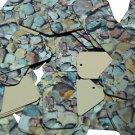 "Rectangle Sequin 1.5"" Brown Stone Rocks Pebbles Gravel Gold Metallic"